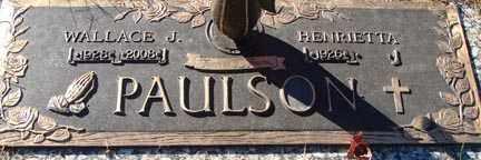 PAULSON, HENRIETTA - Minnehaha County, South Dakota   HENRIETTA PAULSON - South Dakota Gravestone Photos