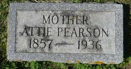 PEARSON, ATTIE - Minnehaha County, South Dakota   ATTIE PEARSON - South Dakota Gravestone Photos
