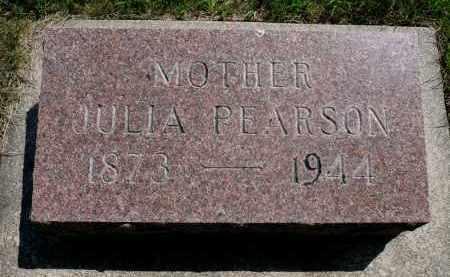 PEARSON, JULIA - Minnehaha County, South Dakota   JULIA PEARSON - South Dakota Gravestone Photos