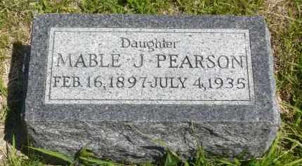 PEARSON, MABLE J. - Minnehaha County, South Dakota | MABLE J. PEARSON - South Dakota Gravestone Photos