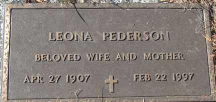 PEDERSON, LEONA - Minnehaha County, South Dakota | LEONA PEDERSON - South Dakota Gravestone Photos