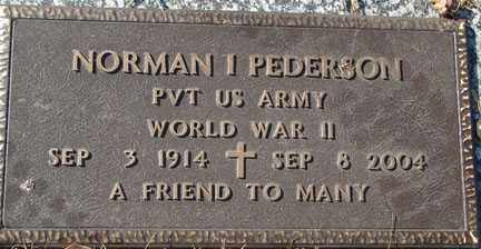 PEDERSON, NORMAN I. - Minnehaha County, South Dakota | NORMAN I. PEDERSON - South Dakota Gravestone Photos