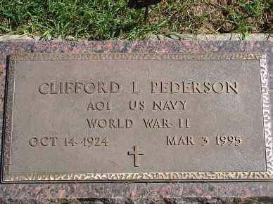 PEDERSON, CLIFFORD L. - Minnehaha County, South Dakota | CLIFFORD L. PEDERSON - South Dakota Gravestone Photos