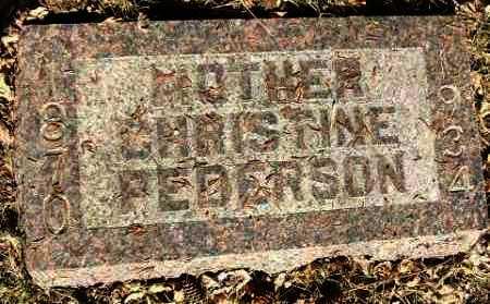 PEDERSON, CHRISTINE - Minnehaha County, South Dakota | CHRISTINE PEDERSON - South Dakota Gravestone Photos