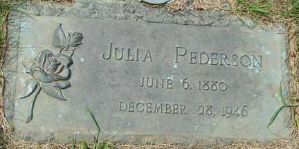PEDERSON, JULIA - Minnehaha County, South Dakota | JULIA PEDERSON - South Dakota Gravestone Photos