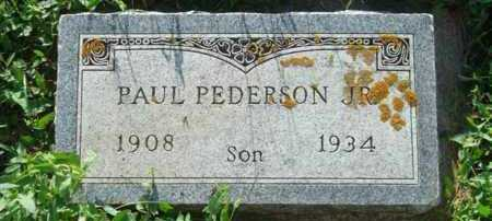 PEDERSON, PAUL, JR. - Minnehaha County, South Dakota | PAUL, JR. PEDERSON - South Dakota Gravestone Photos