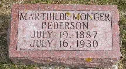 MONGER PEDERSON, MARTHILDE - Minnehaha County, South Dakota   MARTHILDE MONGER PEDERSON - South Dakota Gravestone Photos
