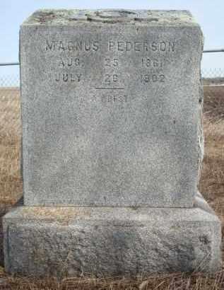 PEDERSON, MAGNUS - Minnehaha County, South Dakota   MAGNUS PEDERSON - South Dakota Gravestone Photos