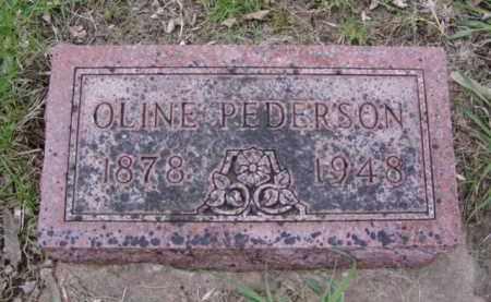PEDERSON, OLINE - Minnehaha County, South Dakota | OLINE PEDERSON - South Dakota Gravestone Photos