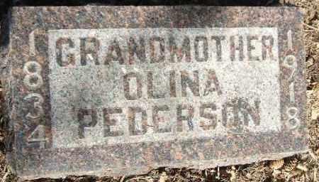 PEDERSON, OLINA - Minnehaha County, South Dakota | OLINA PEDERSON - South Dakota Gravestone Photos