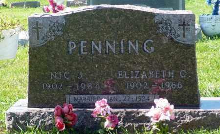 PENNING, ELIZABETH C. - Minnehaha County, South Dakota   ELIZABETH C. PENNING - South Dakota Gravestone Photos