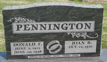 PENNINGTON, DONALD F. - Minnehaha County, South Dakota | DONALD F. PENNINGTON - South Dakota Gravestone Photos