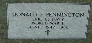 PENNINGTON, DONALD F. (WWII) - Minnehaha County, South Dakota | DONALD F. (WWII) PENNINGTON - South Dakota Gravestone Photos