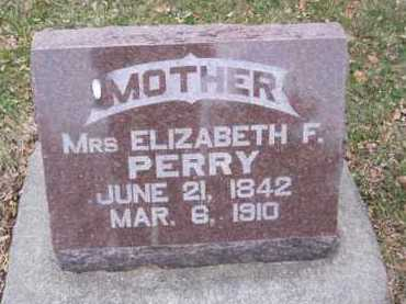 PERRY, ELIZABETH F. - Minnehaha County, South Dakota | ELIZABETH F. PERRY - South Dakota Gravestone Photos
