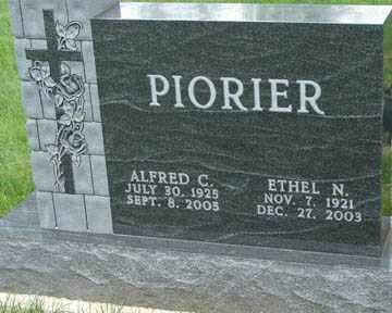 PIORIER, ALFRED C. - Minnehaha County, South Dakota | ALFRED C. PIORIER - South Dakota Gravestone Photos