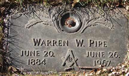 PIPE, WARREN W. - Minnehaha County, South Dakota   WARREN W. PIPE - South Dakota Gravestone Photos
