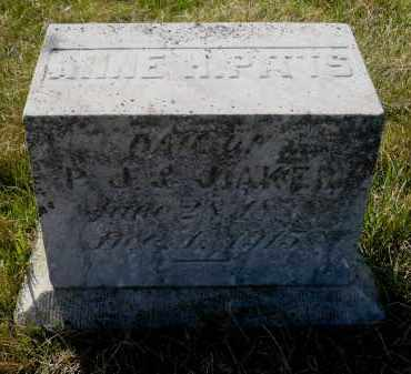 AKER PITTS, ANNE H. - Minnehaha County, South Dakota | ANNE H. AKER PITTS - South Dakota Gravestone Photos