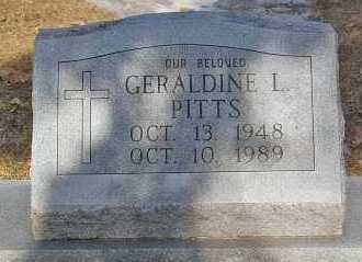 PITTS, GERALDINE L. - Minnehaha County, South Dakota   GERALDINE L. PITTS - South Dakota Gravestone Photos