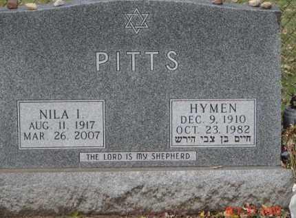 PITTS, HYMEN - Minnehaha County, South Dakota | HYMEN PITTS - South Dakota Gravestone Photos