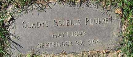 PLOPPER, GLADYS ESTELLE - Minnehaha County, South Dakota | GLADYS ESTELLE PLOPPER - South Dakota Gravestone Photos