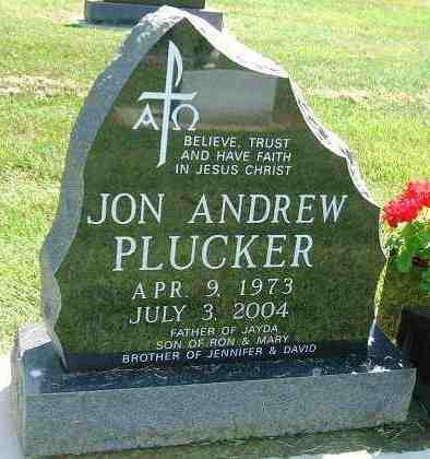 PLUCKER, JON ANDREW - Minnehaha County, South Dakota | JON ANDREW PLUCKER - South Dakota Gravestone Photos