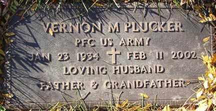 PLUCKER, VERNON M. - Minnehaha County, South Dakota | VERNON M. PLUCKER - South Dakota Gravestone Photos
