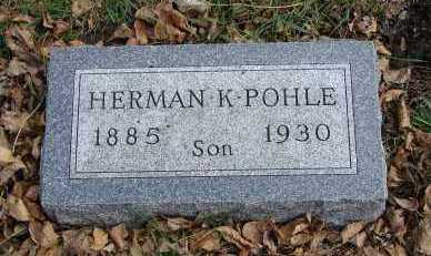 POHLE, HERMAN K. - Minnehaha County, South Dakota | HERMAN K. POHLE - South Dakota Gravestone Photos