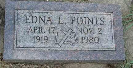 POINTS, EDNA L. - Minnehaha County, South Dakota | EDNA L. POINTS - South Dakota Gravestone Photos