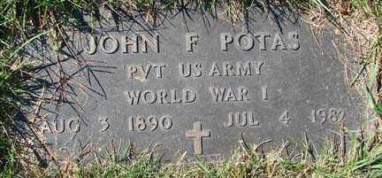 POTAS, JOHN F. - Minnehaha County, South Dakota | JOHN F. POTAS - South Dakota Gravestone Photos