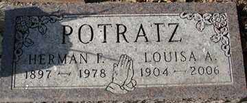 POTRATZ, HERMAN P. - Minnehaha County, South Dakota | HERMAN P. POTRATZ - South Dakota Gravestone Photos