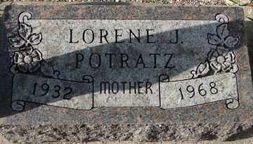 POTRATZ, LORENE J. - Minnehaha County, South Dakota | LORENE J. POTRATZ - South Dakota Gravestone Photos