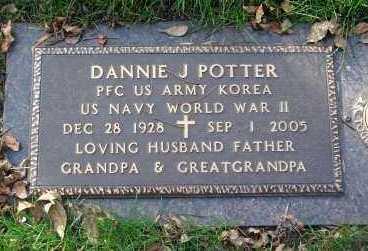 POTTER, DANNIE J. - Minnehaha County, South Dakota | DANNIE J. POTTER - South Dakota Gravestone Photos