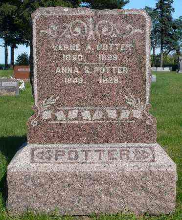 POTTER, ANNA S. - Minnehaha County, South Dakota | ANNA S. POTTER - South Dakota Gravestone Photos