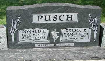 PUSCH, ZELMA R. - Minnehaha County, South Dakota   ZELMA R. PUSCH - South Dakota Gravestone Photos
