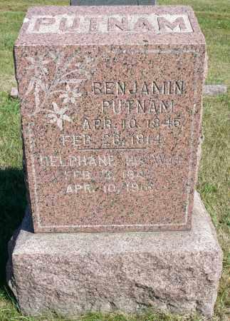 PUTNAM, BENJAMIN - Minnehaha County, South Dakota   BENJAMIN PUTNAM - South Dakota Gravestone Photos