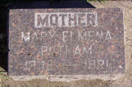 PUTNAM, MARY ELMENA - Minnehaha County, South Dakota | MARY ELMENA PUTNAM - South Dakota Gravestone Photos