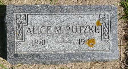 PUTZKE, ALICE M. - Minnehaha County, South Dakota | ALICE M. PUTZKE - South Dakota Gravestone Photos