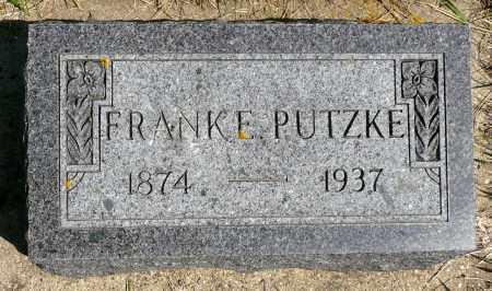 PUTZKE, FRANK E. - Minnehaha County, South Dakota   FRANK E. PUTZKE - South Dakota Gravestone Photos