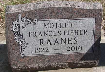 RAANES, FRANCES - Minnehaha County, South Dakota | FRANCES RAANES - South Dakota Gravestone Photos