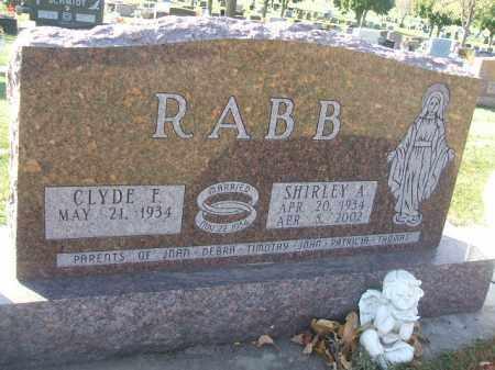 RABB, SHIRLEY A. - Minnehaha County, South Dakota | SHIRLEY A. RABB - South Dakota Gravestone Photos