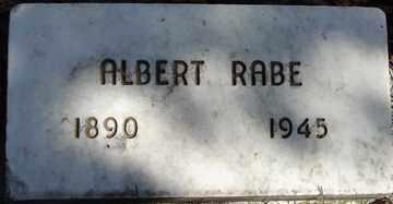 RABE, ALBERT - Minnehaha County, South Dakota | ALBERT RABE - South Dakota Gravestone Photos