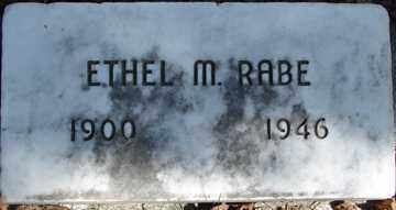 RABE, ETHEL M. - Minnehaha County, South Dakota | ETHEL M. RABE - South Dakota Gravestone Photos