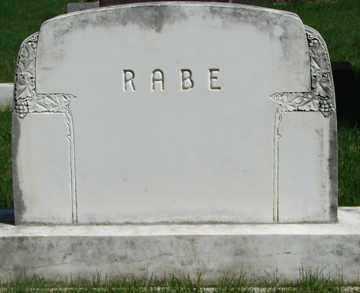 RABE, FAMILY MARKER - Minnehaha County, South Dakota | FAMILY MARKER RABE - South Dakota Gravestone Photos