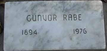 RABE, GUNVOR - Minnehaha County, South Dakota | GUNVOR RABE - South Dakota Gravestone Photos