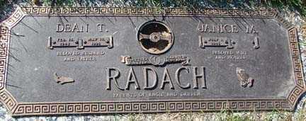 RADACH, DEAN T. - Minnehaha County, South Dakota | DEAN T. RADACH - South Dakota Gravestone Photos