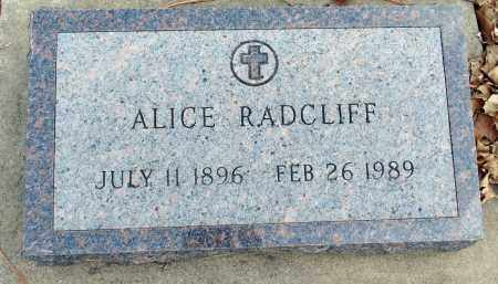 RADCLIFF, ALICE - Minnehaha County, South Dakota | ALICE RADCLIFF - South Dakota Gravestone Photos