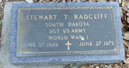RADCLIFF, STEWART T. - Minnehaha County, South Dakota   STEWART T. RADCLIFF - South Dakota Gravestone Photos