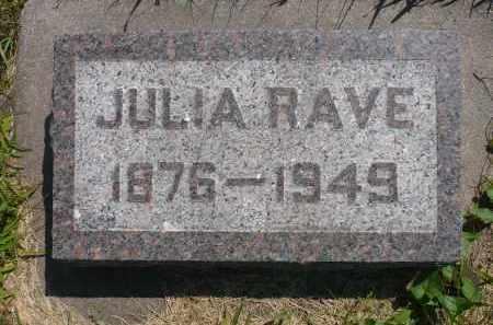 RAVE, JULIA - Minnehaha County, South Dakota   JULIA RAVE - South Dakota Gravestone Photos