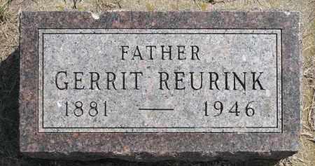 REURINK, GERRIT - Minnehaha County, South Dakota   GERRIT REURINK - South Dakota Gravestone Photos