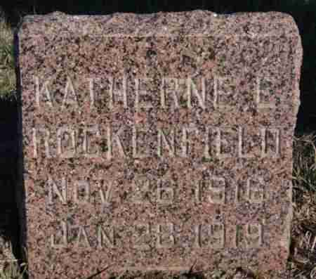 ROCKENFIELD, KATHERINE L - Minnehaha County, South Dakota | KATHERINE L ROCKENFIELD - South Dakota Gravestone Photos